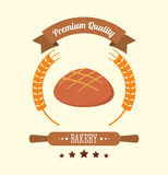 Bakery healthy vegan premium quality label. Vector illustration eps 10 Royalty Free Stock Photography