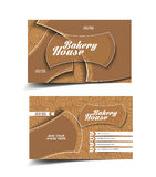 Bakery House Business Card royalty free illustration