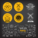 Bakery icon design. Menu badge vintage. Royalty Free Stock Photo