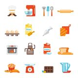 Bakery icon flat Royalty Free Stock Photography