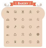 Bakery icon set Stock Images
