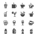 Bakery icon set, chalkboard version, vector eps10 Stock Photography