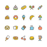 Bakery Icon Set Color. Vector Stock Images