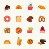 Bakery icon set. Vector Illustration Royalty Free Stock Photos