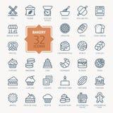 Bakery Icon set. Vector Illustration Stock Photos