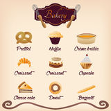 Bakery icons Royalty Free Stock Photos
