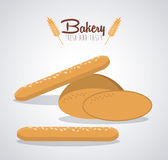 Bakery icons design Stock Photography