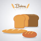 Bakery icons design Stock Image