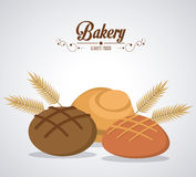 Bakery icons design Royalty Free Stock Image