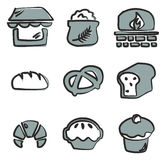 Bakery Icons Freehand 2 Color Royalty Free Stock Images