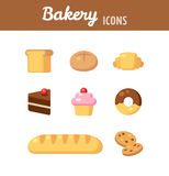 Bakery icons Stock Photography