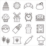 Bakery icons. Stock Photos