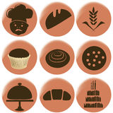 Bakery icons Royalty Free Stock Images