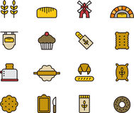 Bakery icons Stock Image