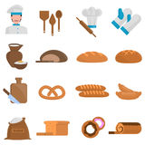 Bakery icons set Royalty Free Stock Photography