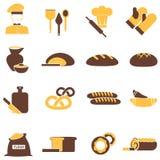 Bakery icons set Royalty Free Stock Image