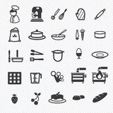 Bakery icons set. illustration Stock Photos