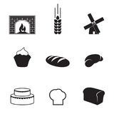 Bakery icons. Set of isolated icons on a theme bakery stock illustration