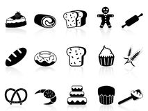 Bakery icons set Stock Photos
