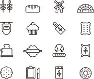 Bakery icons Stock Photos