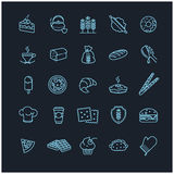 Bakery icons, vector food Stock Photography