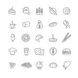 Bakery icons, vector stock Royalty Free Stock Image