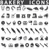 Bakery icons. On a white background with a shadow Royalty Free Stock Photography
