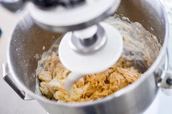 Bakery ingredient mixed in the machine Stock Photography