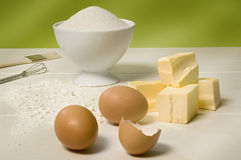 Bakery Ingredients Royalty Free Stock Image