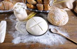 Bakery. Ingredients on the table of the bakery Stock Photography