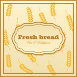 Bakery label. Beautiful retro label of bakery with images of spikelets Stock Photography
