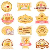 Bakery Label Collection Stock Photography