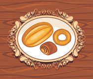 Bakery. Label for design royalty free stock photos