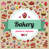 Bakery label Royalty Free Stock Images