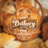 Bakery label Royalty Free Stock Photos
