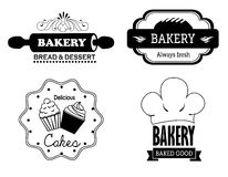 Bakery labels Stock Image