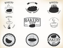 Bakery labels and badges with retro vintage style design. Illustration of Bakery labels and badges with retro vintage style design Royalty Free Stock Photo