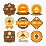 BAKERY LABELS DESIGN VECTOR stock illustration
