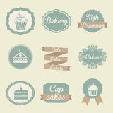 Bakery labels stock illustration