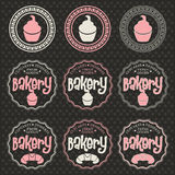 Bakery labels Royalty Free Stock Photos