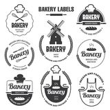 Bakery labels 1. Set of bakery labels and symbols 1 in vector stock illustration