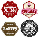 Bakery labels or stamps Royalty Free Stock Image