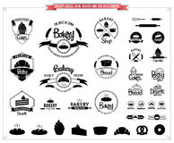 Bakery Labels Templates , Icons, Badges and Design Elements Royalty Free Stock Images