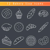 Bakery line icons Stock Images