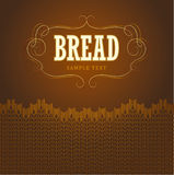 Bakery. loaf, baguette, baked goods, croissant, cu. Pcake, bagel. labels, pack for bread wheat ear of wheat Stock Images