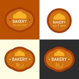 Bakery logo with Bun Vector Illustration