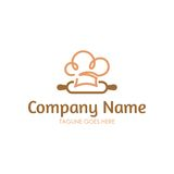 Bakery Logo. With simple line perfect for your business stock illustration