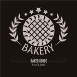 Bakery logotype. Bakery or bred shop vintage design element. Vector Illustration royalty free illustration