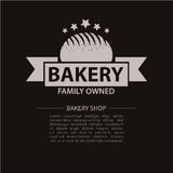 Bakery logotype. Bakery or bred shop vintage design element. Vector Illustration stock illustration