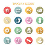 Bakery long shadow icons Royalty Free Stock Photography